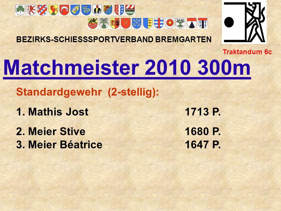 Matchmeister 2010 300m Standardgewehr (2-stellig):