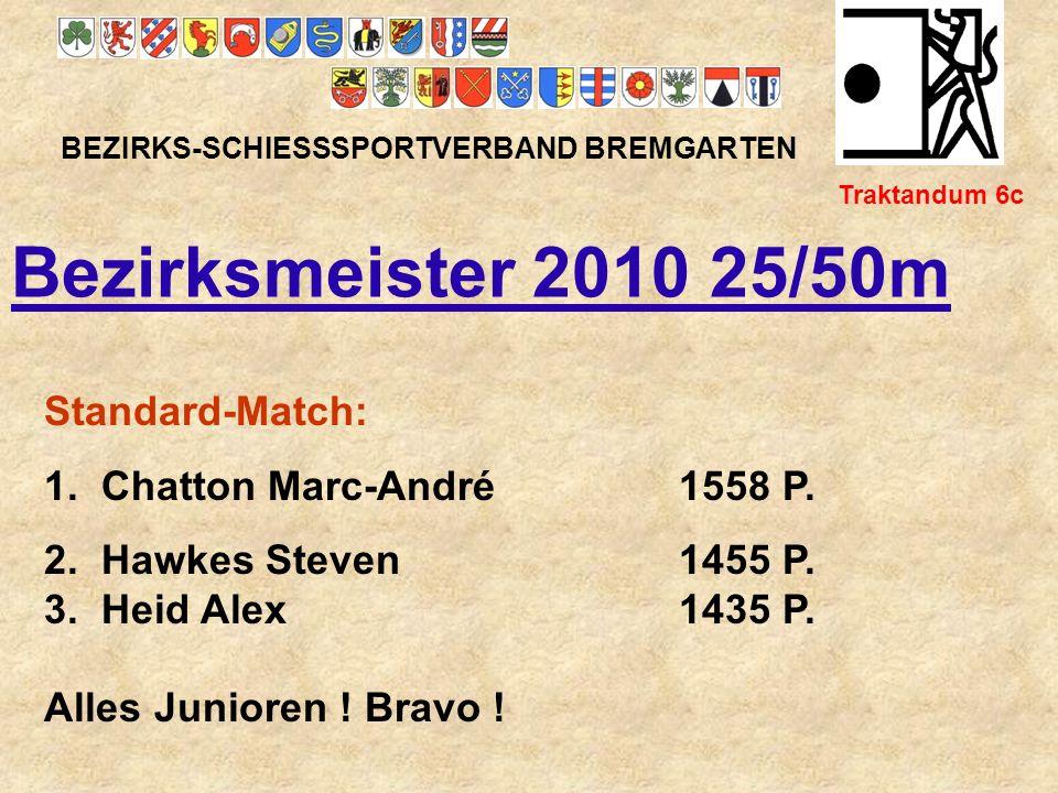 Bezirksmeister 2010 25/50m Standard-Match: