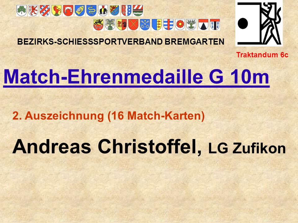 Match-Ehrenmedaille G 10m