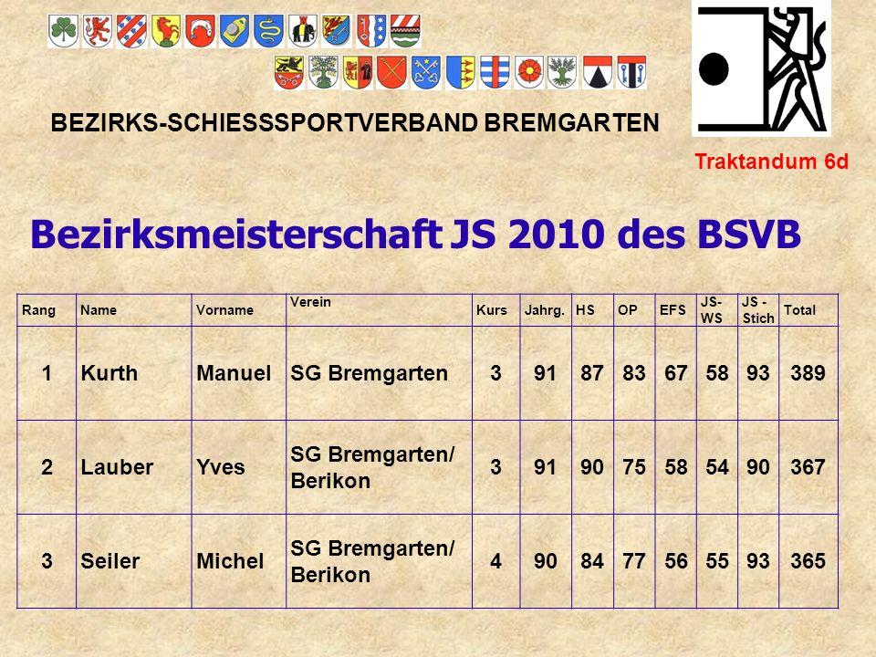 Bezirksmeisterschaft JS 2010 des BSVB