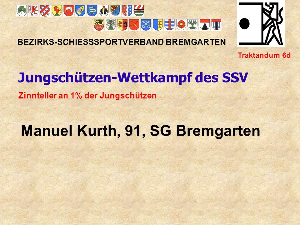 Manuel Kurth, 91, SG Bremgarten