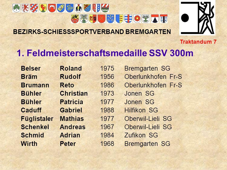 1. Feldmeisterschaftsmedaille SSV 300m