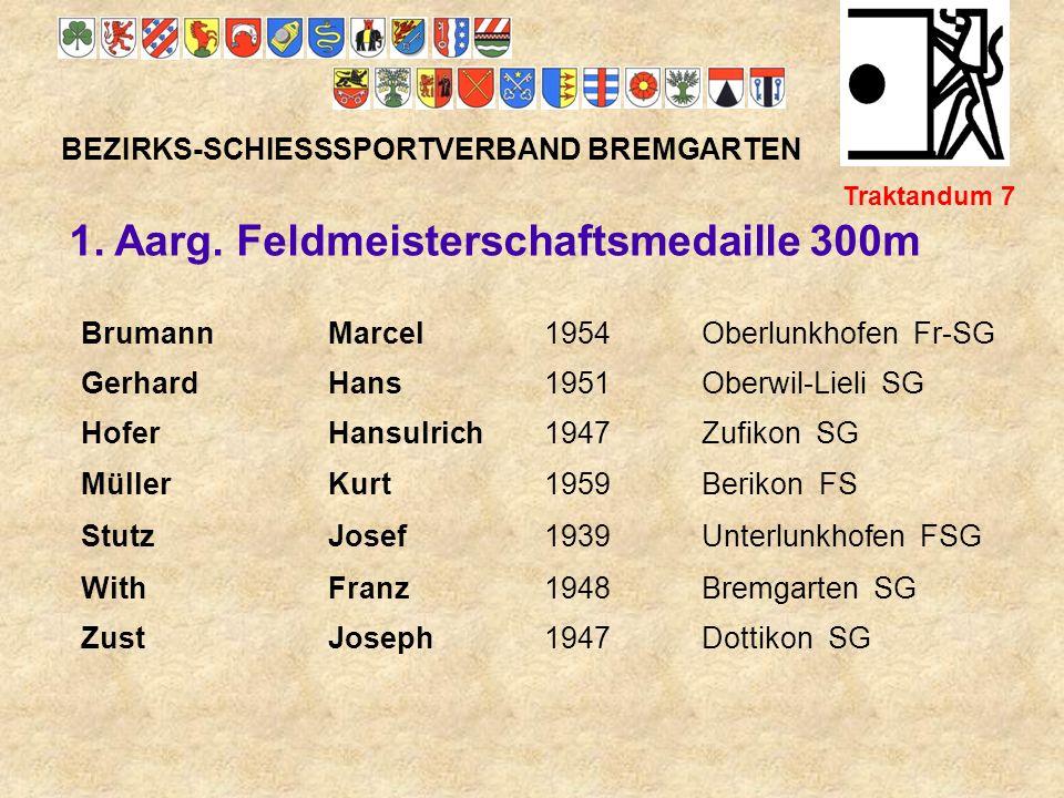 1. Aarg. Feldmeisterschaftsmedaille 300m