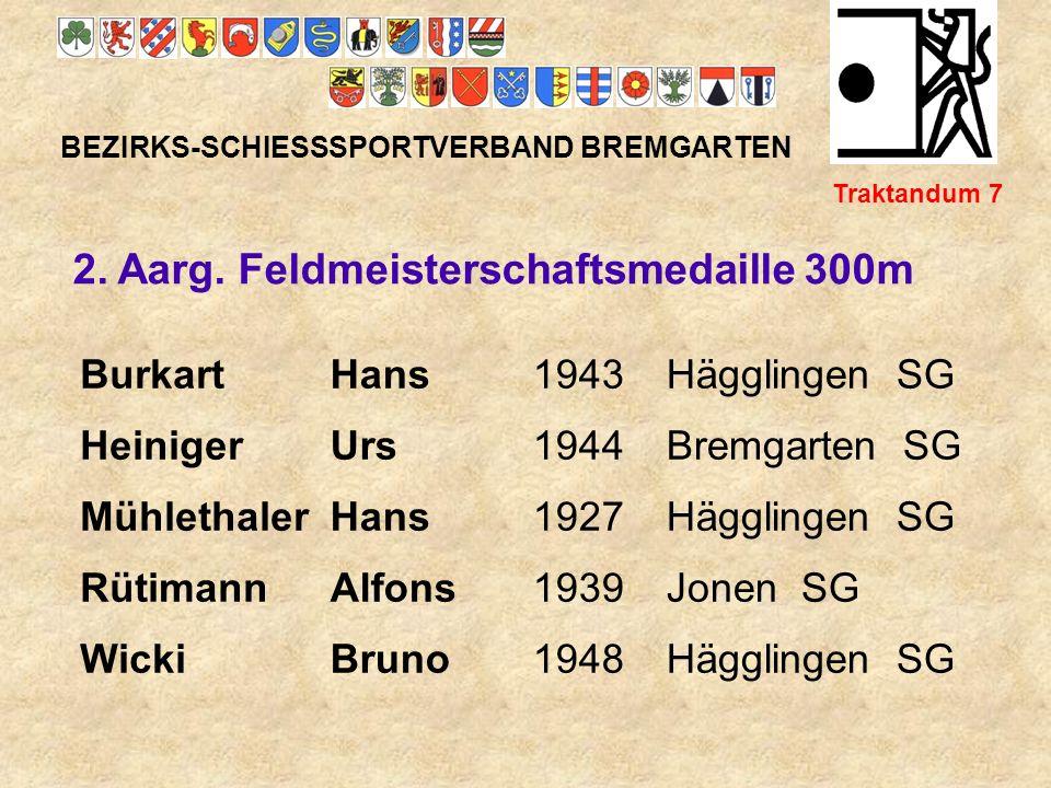 2. Aarg. Feldmeisterschaftsmedaille 300m