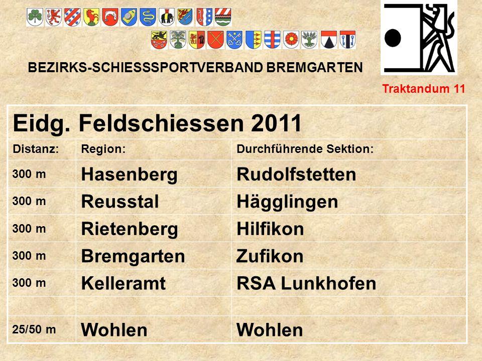 Eidg. Feldschiessen 2011 Hasenberg Rudolfstetten Reusstal Hägglingen