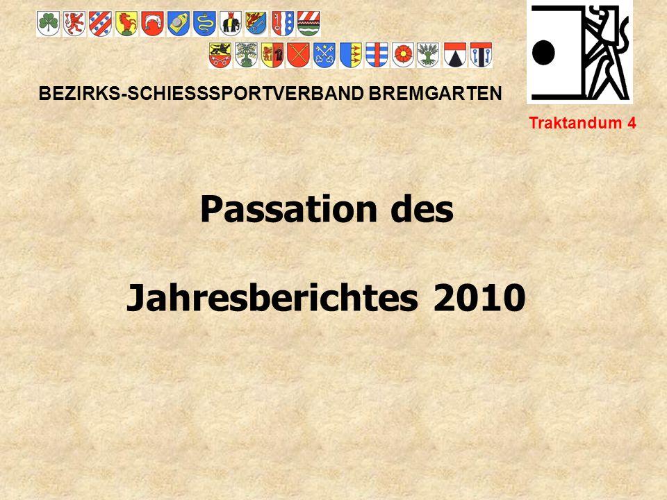 Passation des Jahresberichtes 2010