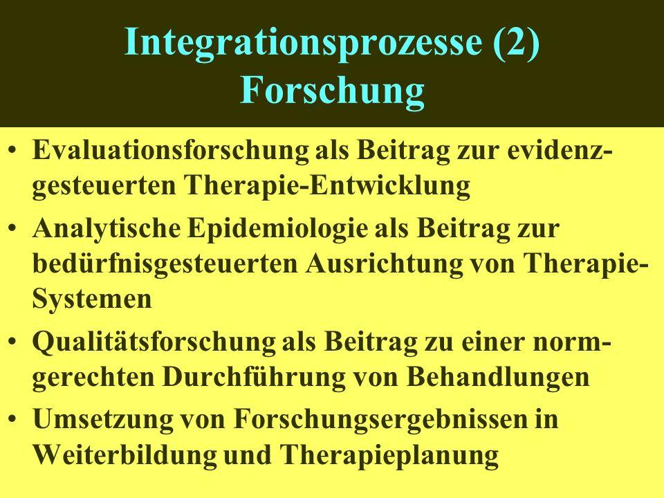 Integrationsprozesse (2) Forschung
