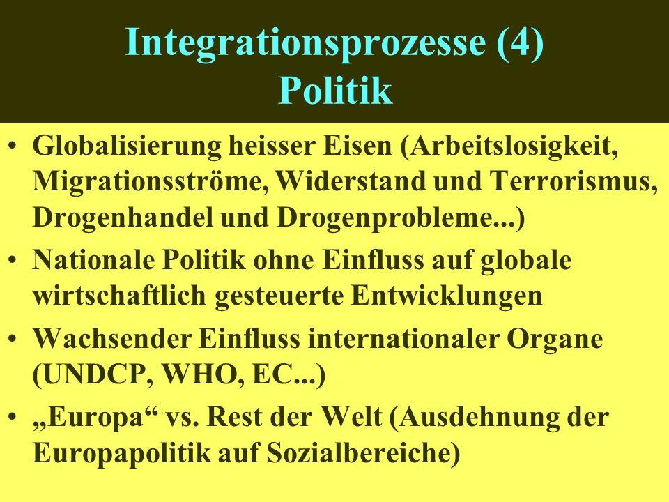 Integrationsprozesse (4) Politik