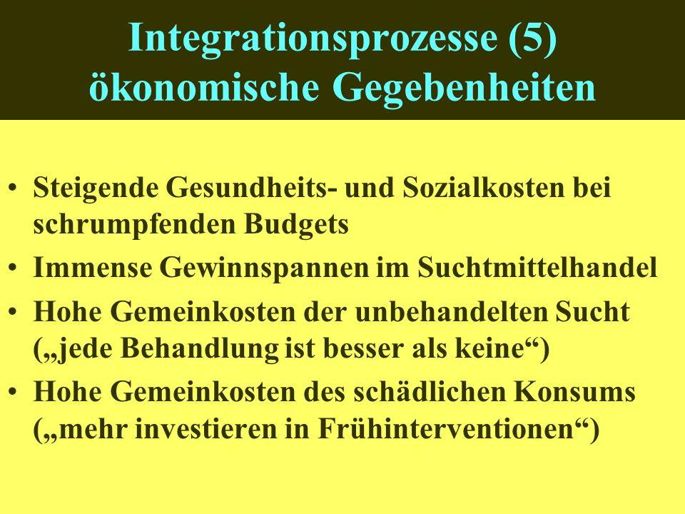 Integrationsprozesse (5) ökonomische Gegebenheiten
