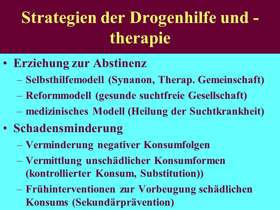 Strategien der Drogenhilfe und -therapie