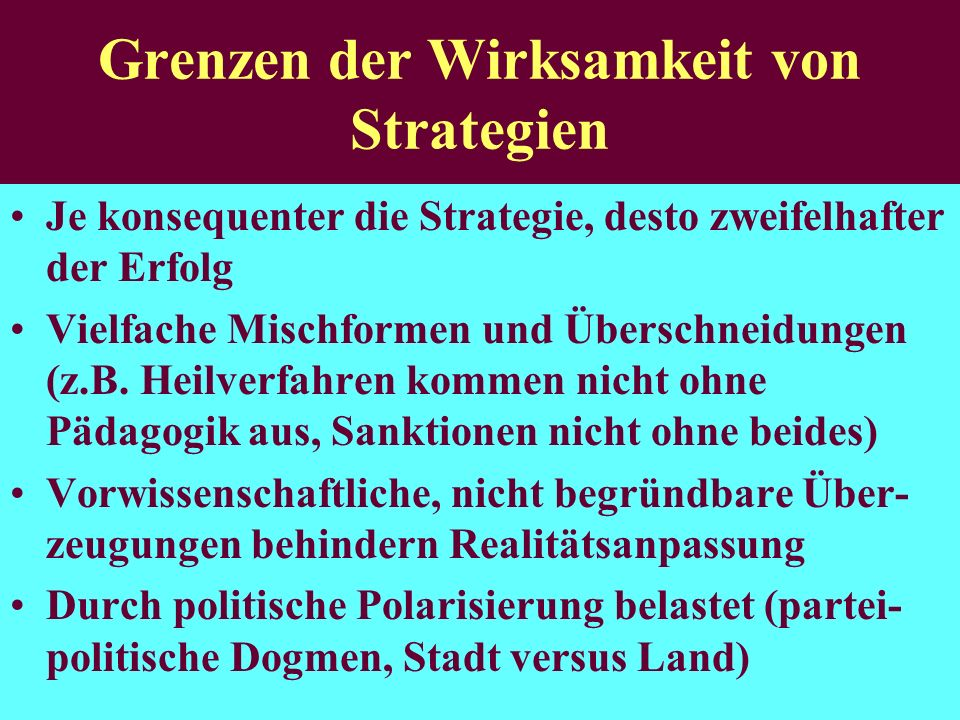 Grenzen der Wirksamkeit von Strategien