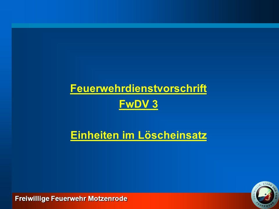 Feuerwehrdienstvorschrift Einheiten im Löscheinsatz