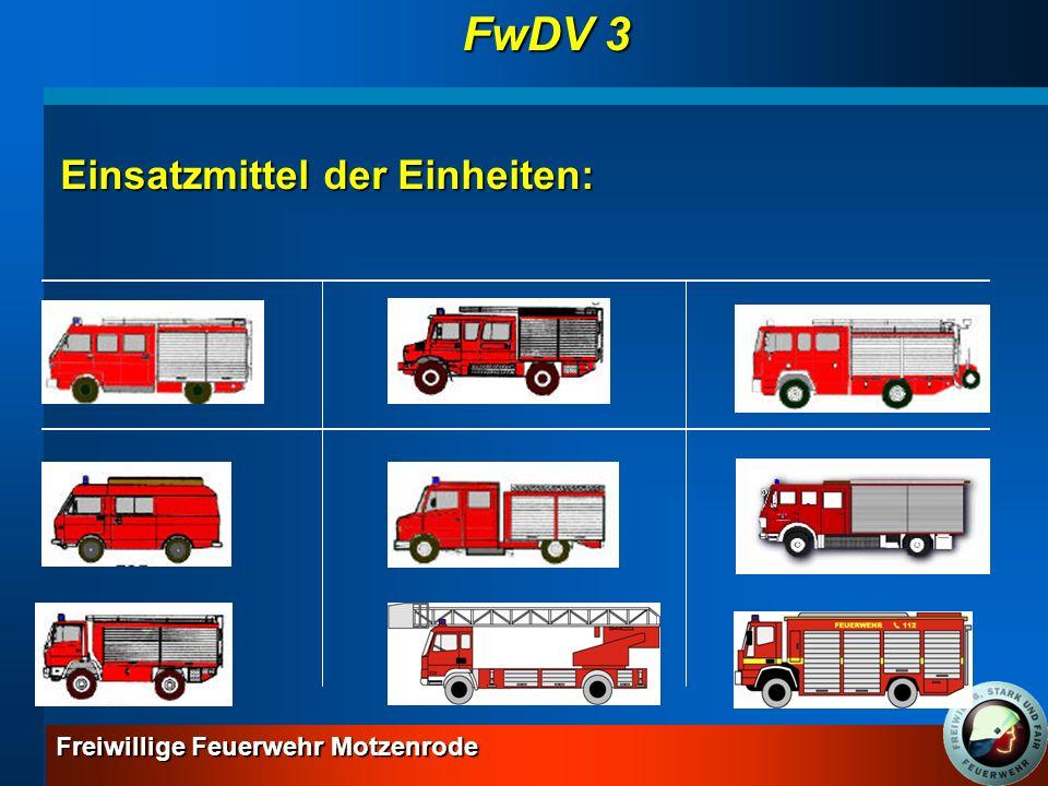 FwDV 3 Einsatzmittel der Einheiten: