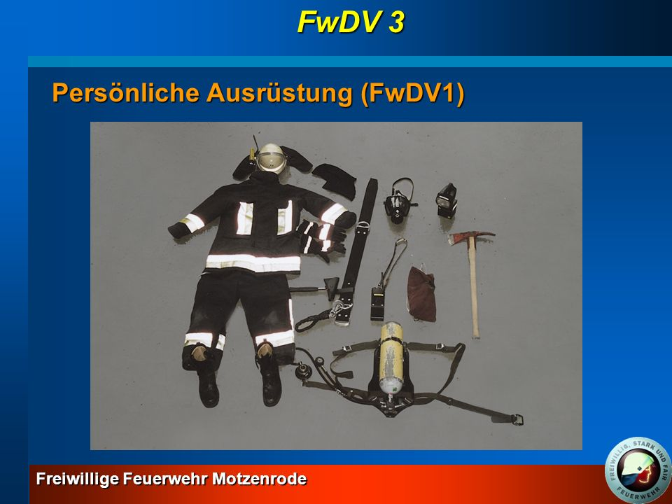FwDV 3 Persönliche Ausrüstung (FwDV1)