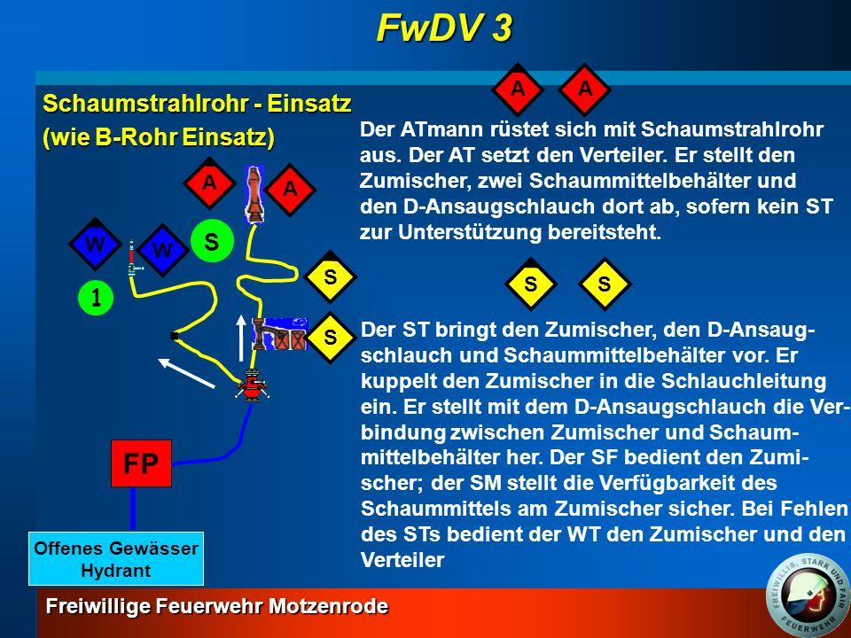 FwDV 3 FP Schaumstrahlrohr - Einsatz (wie B-Rohr Einsatz) S 1 A A