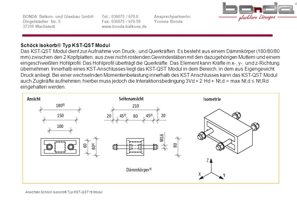Schöck Isokorb® Typ KST-QST Modul