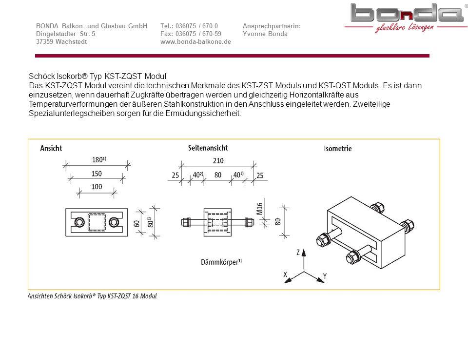 Schöck Isokorb® Typ KST-ZQST Modul