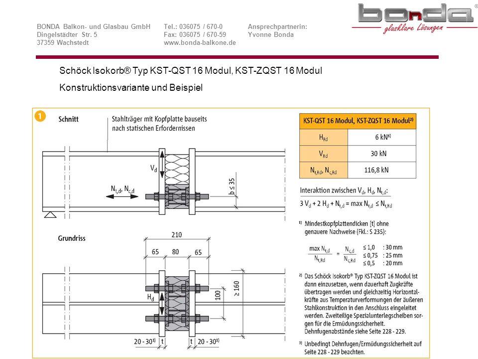 Schöck Isokorb® Typ KST-QST 16 Modul, KST-ZQST 16 Modul