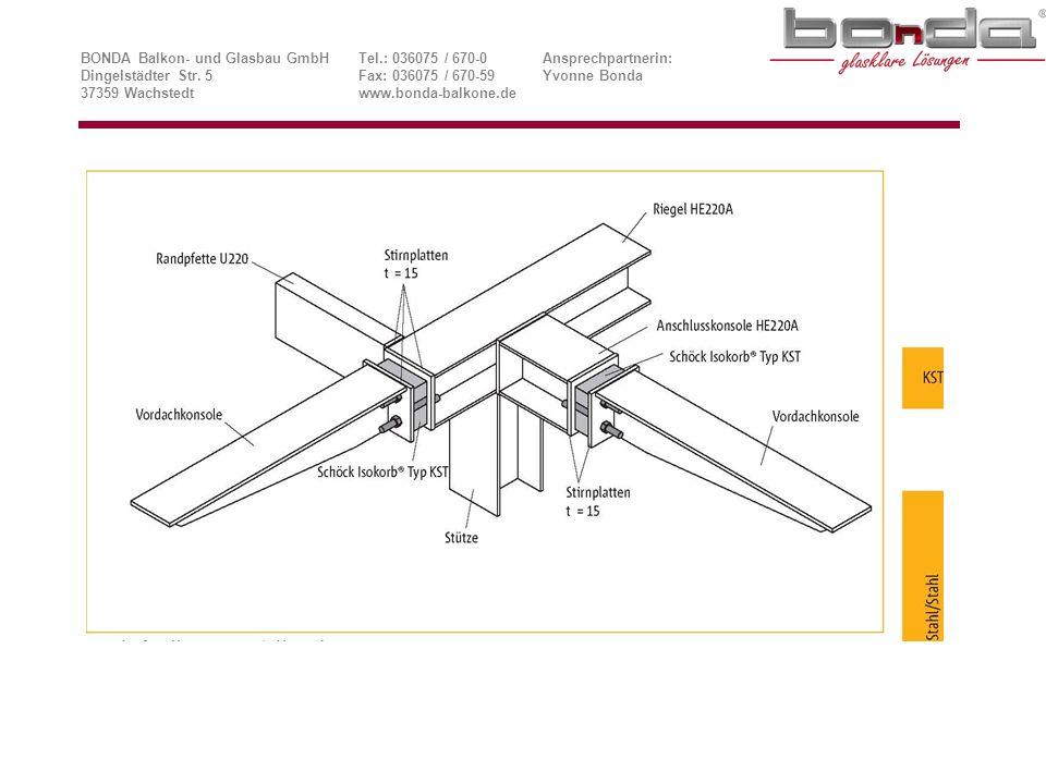 BONDA Balkon- und Glasbau GmbH. Tel. : 036075 / 670-0