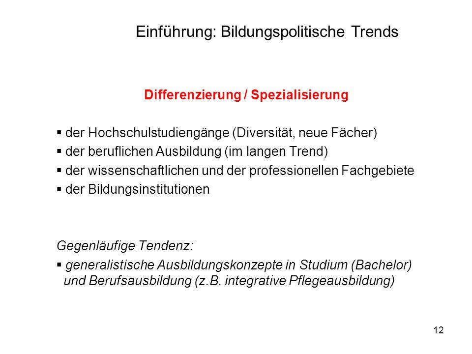 Differenzierung / Spezialisierung