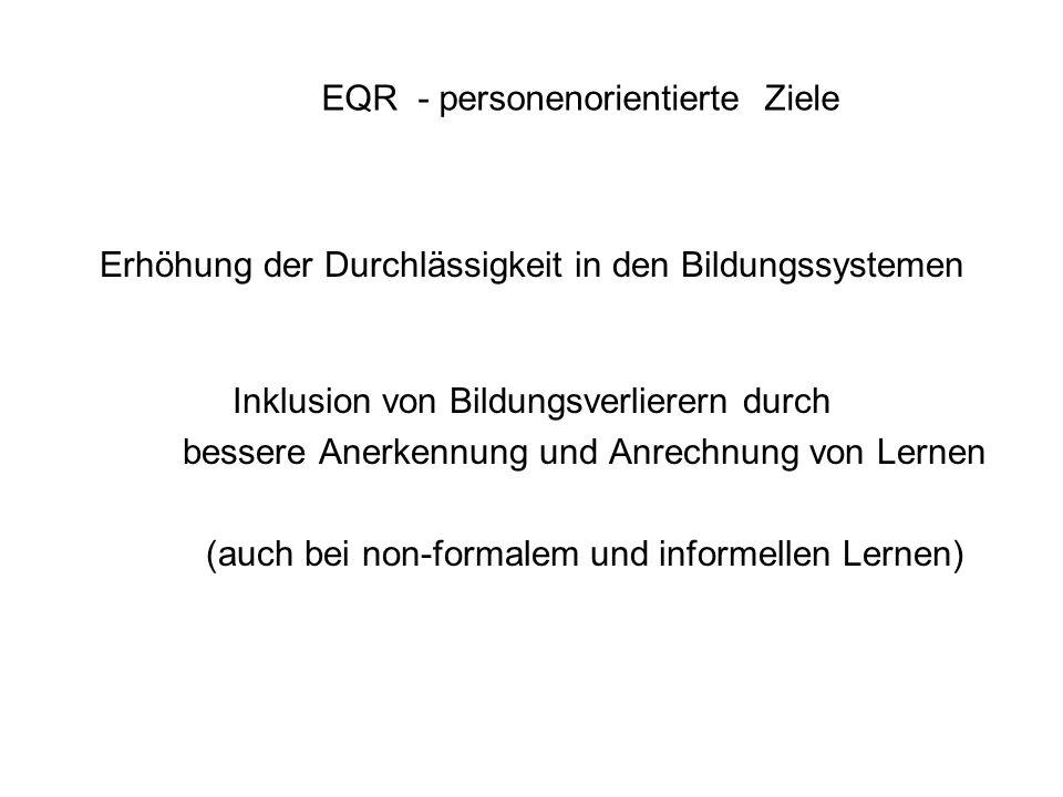 EQR - personenorientierte Ziele