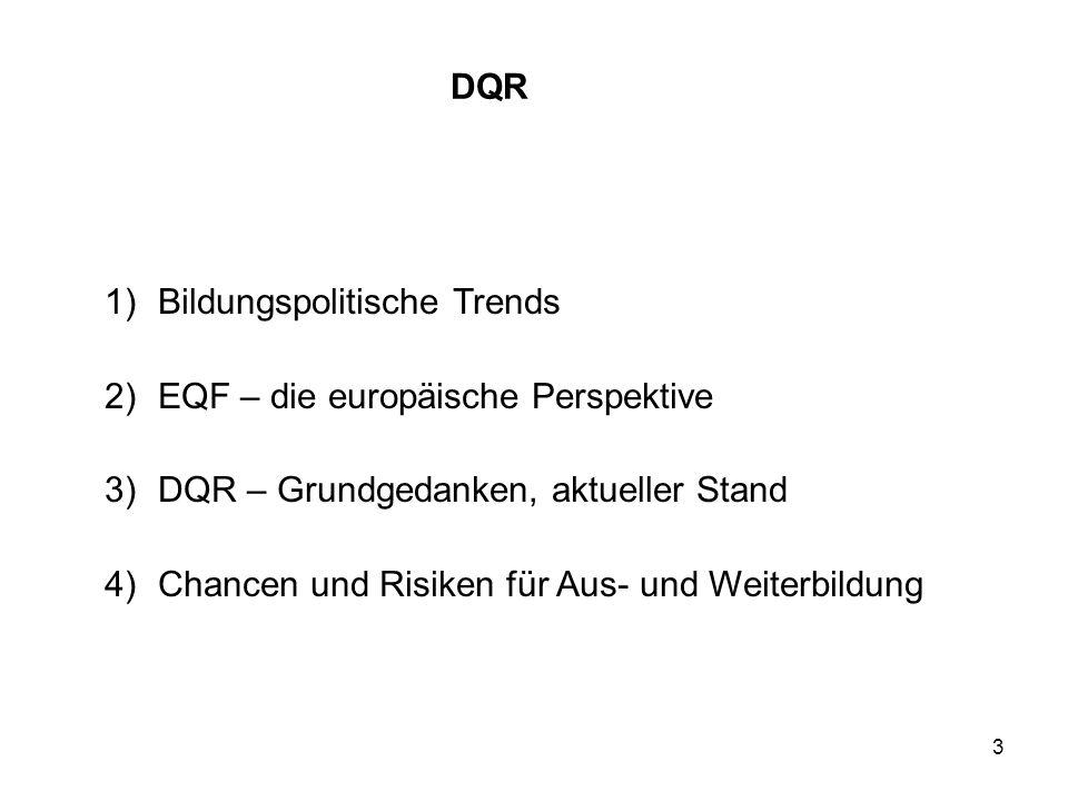 Bildungspolitische Trends EQF – die europäische Perspektive
