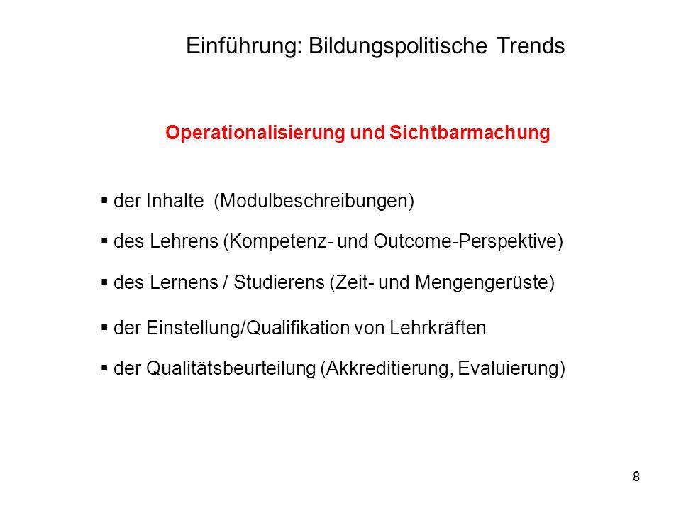Operationalisierung und Sichtbarmachung