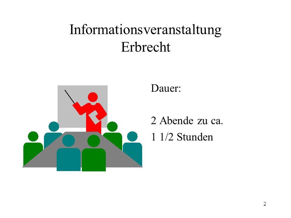 Informationsveranstaltung Erbrecht