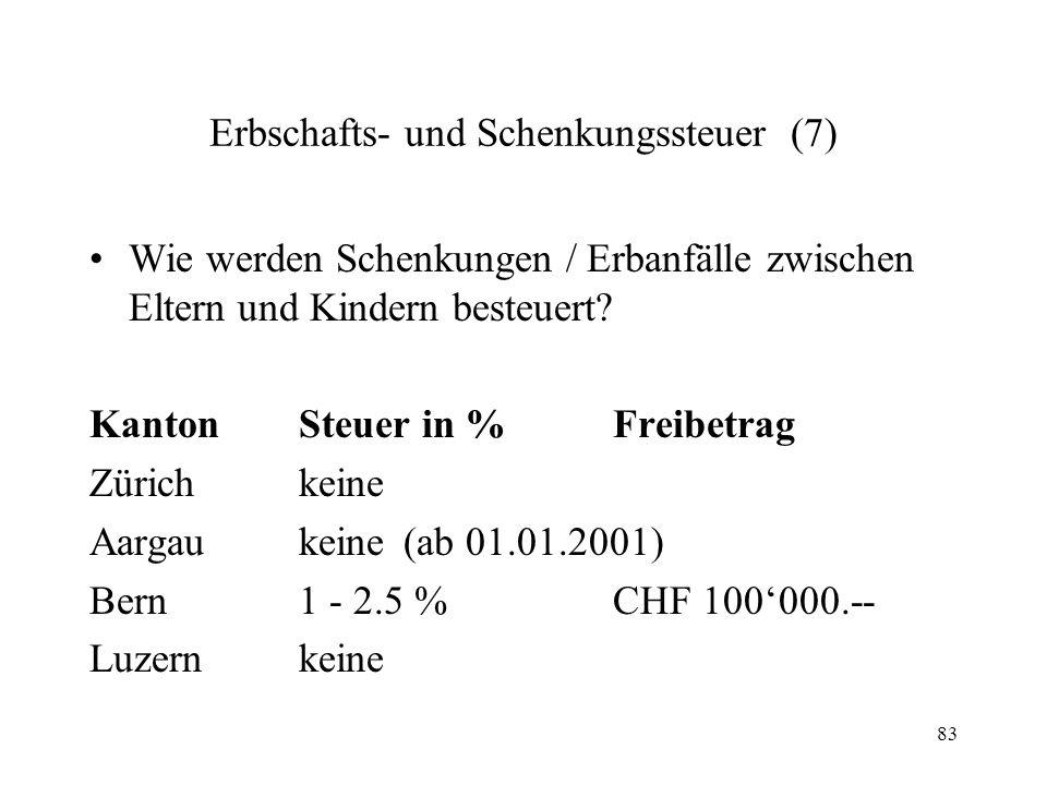 Erbschafts- und Schenkungssteuer (7)