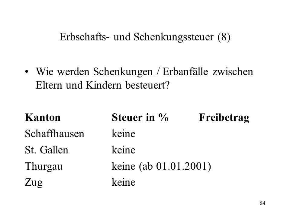 Erbschafts- und Schenkungssteuer (8)