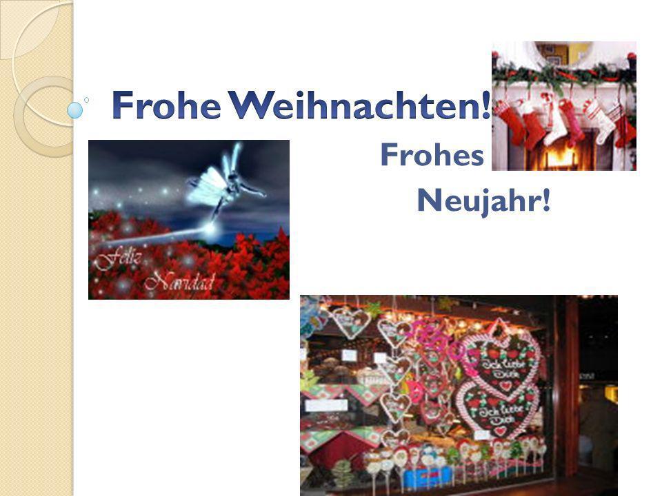 Frohe Weihnachten! Frohes Neujahr!
