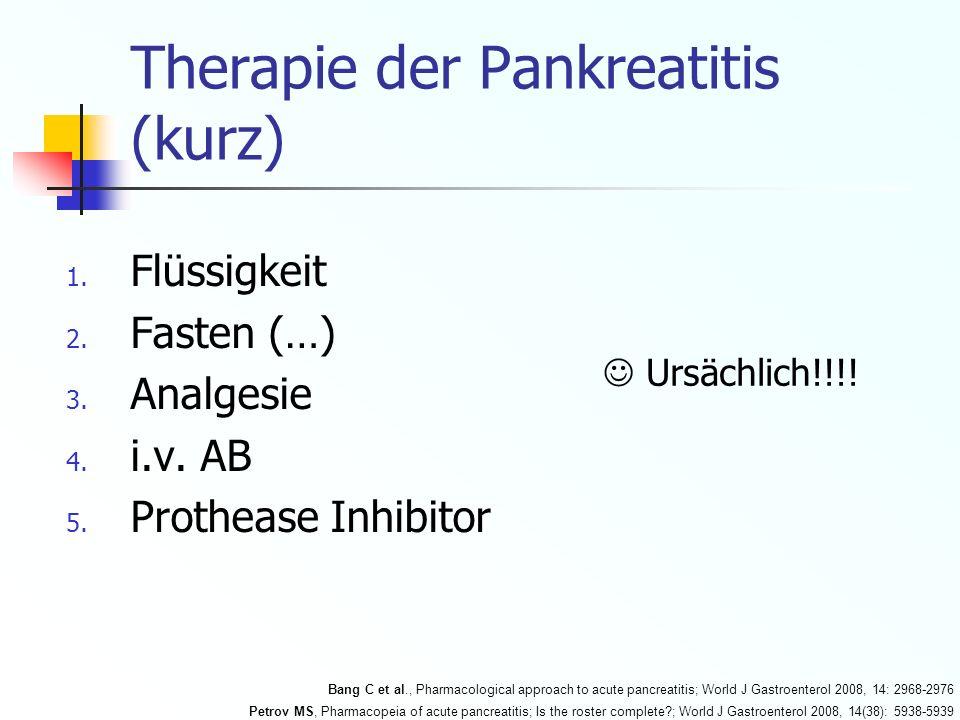 Therapie der Pankreatitis (kurz)