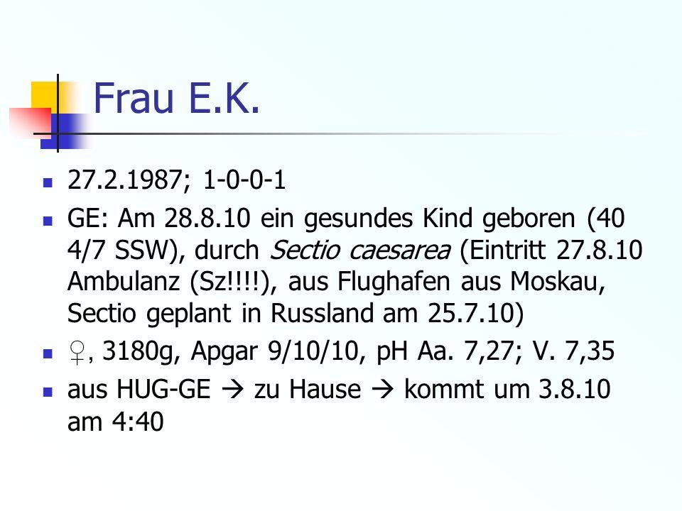Frau E.K. 27.2.1987; 1-0-0-1.