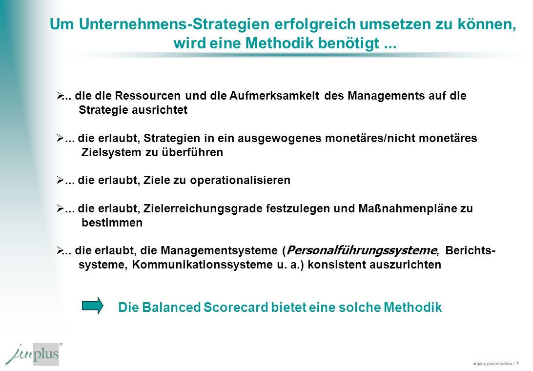 Um Unternehmens-Strategien erfolgreich umsetzen zu können,