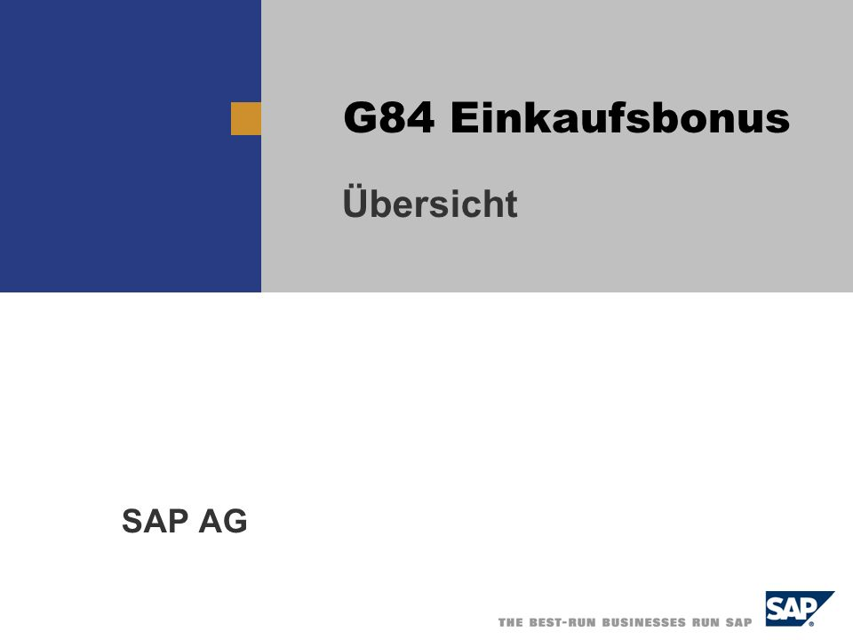 Übersicht SAP AG