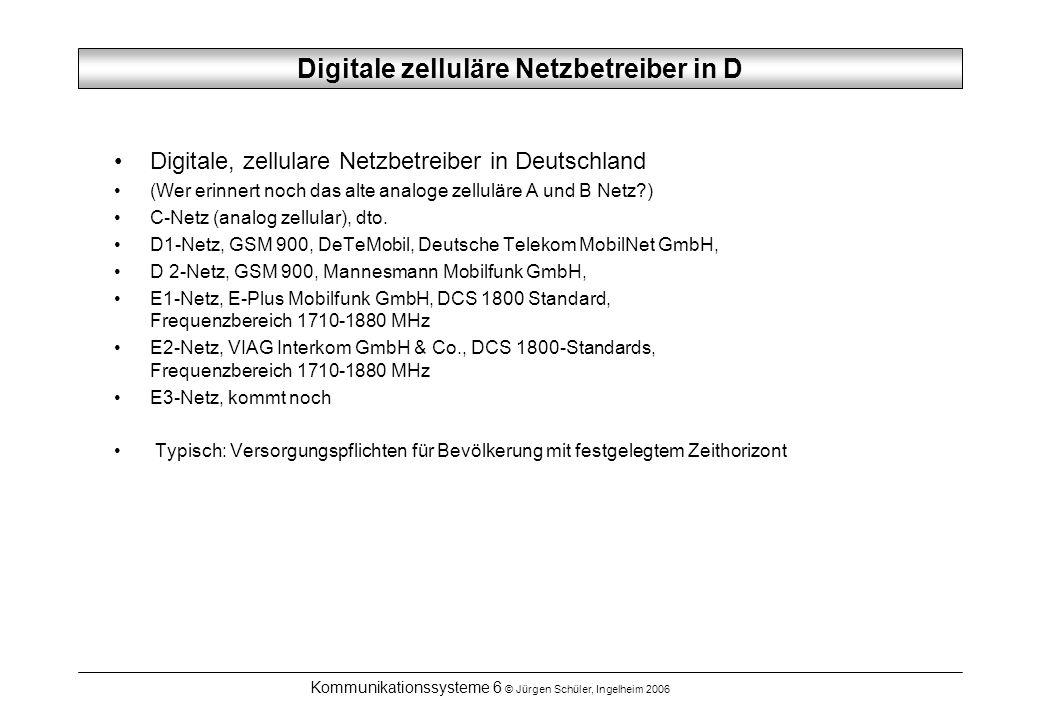Digitale zelluläre Netzbetreiber in D