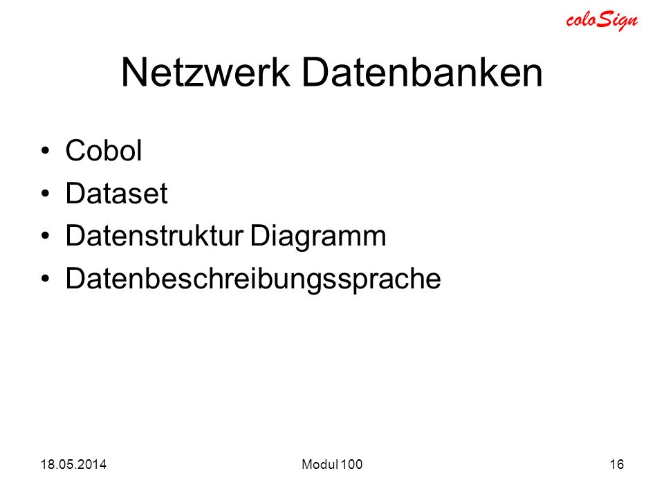 Netzwerk Datenbanken Cobol Dataset Datenstruktur Diagramm