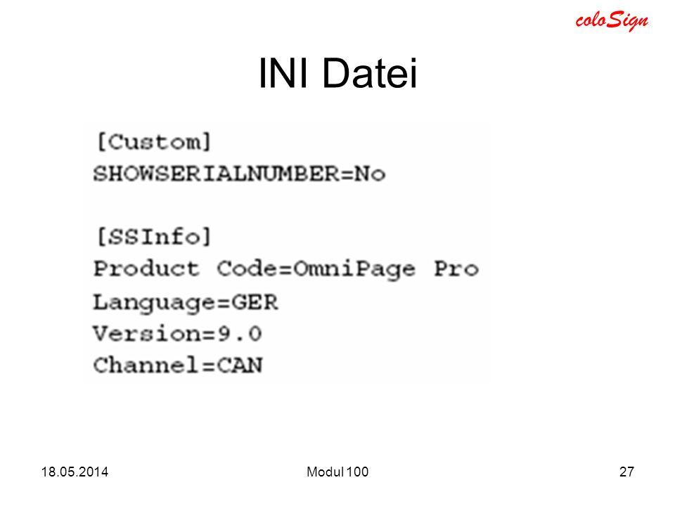 INI Datei 31.03.2017 Modul 100