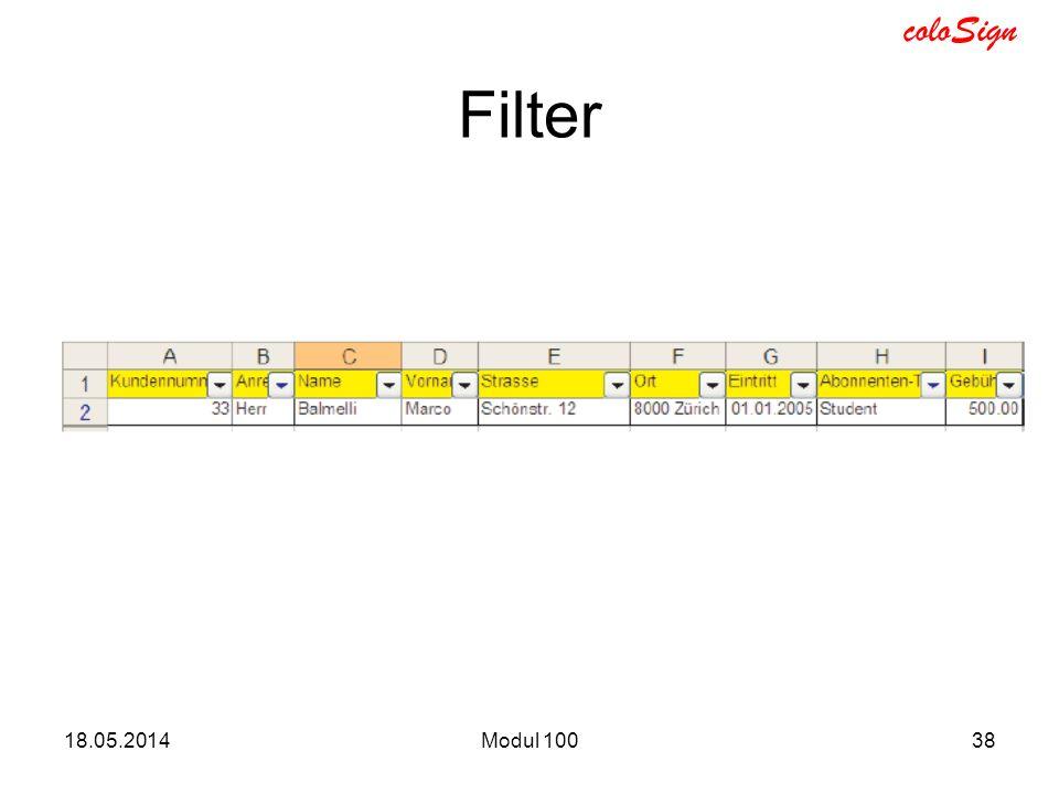 Filter 31.03.2017 Modul 100