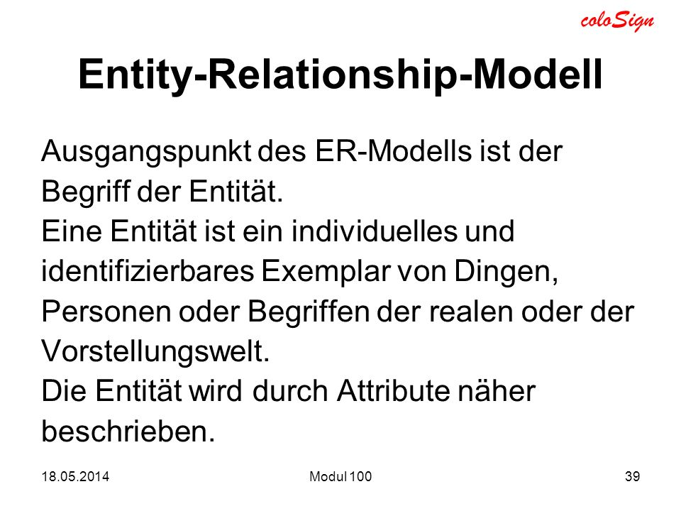 Entity-Relationship-Modell