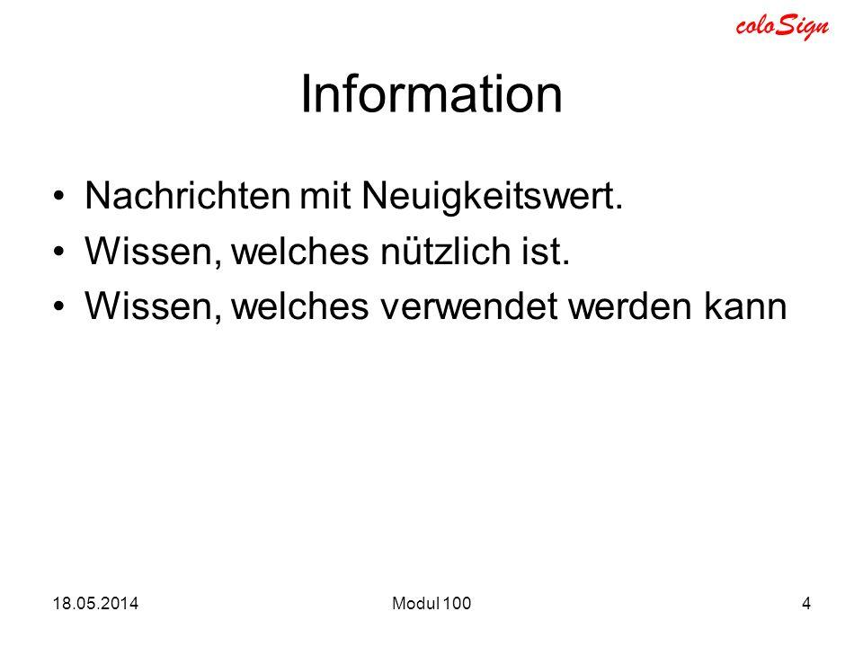 Information Nachrichten mit Neuigkeitswert.