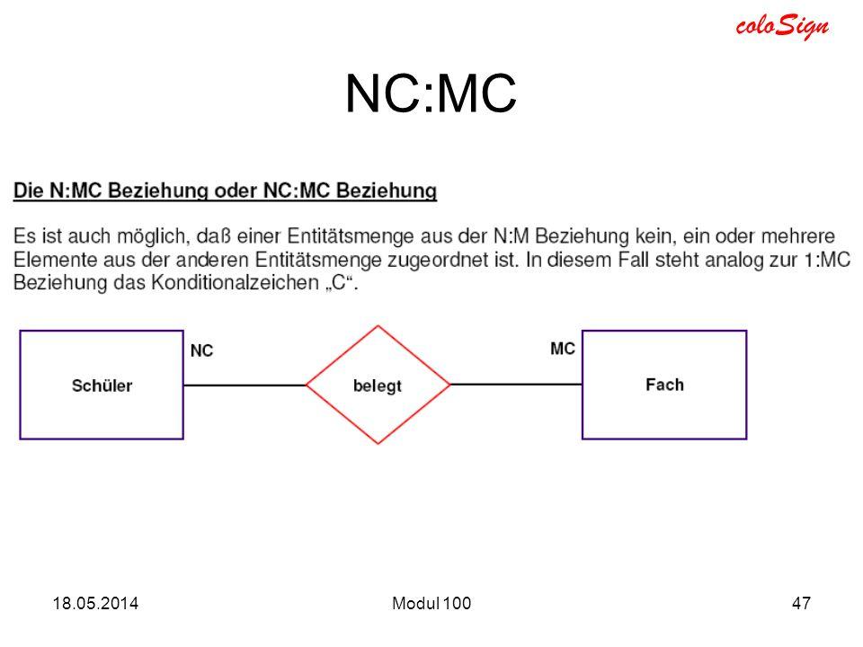 NC:MC 31.03.2017 Modul 100