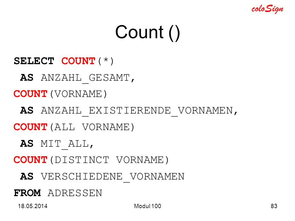 Count ()