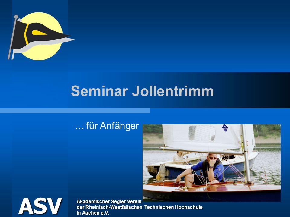Seminar Jollentrimm ... für Anfänger