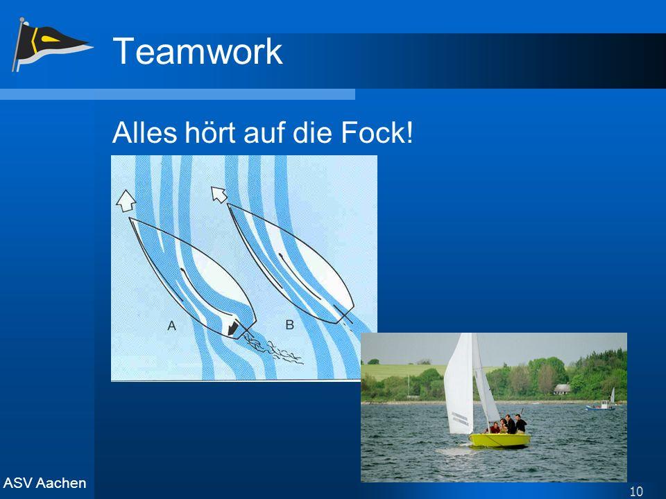 Teamwork Alles hört auf die Fock!