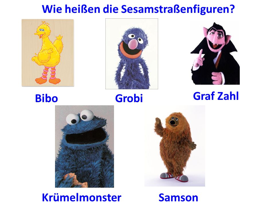 Wie heißen die Sesamstraßenfiguren