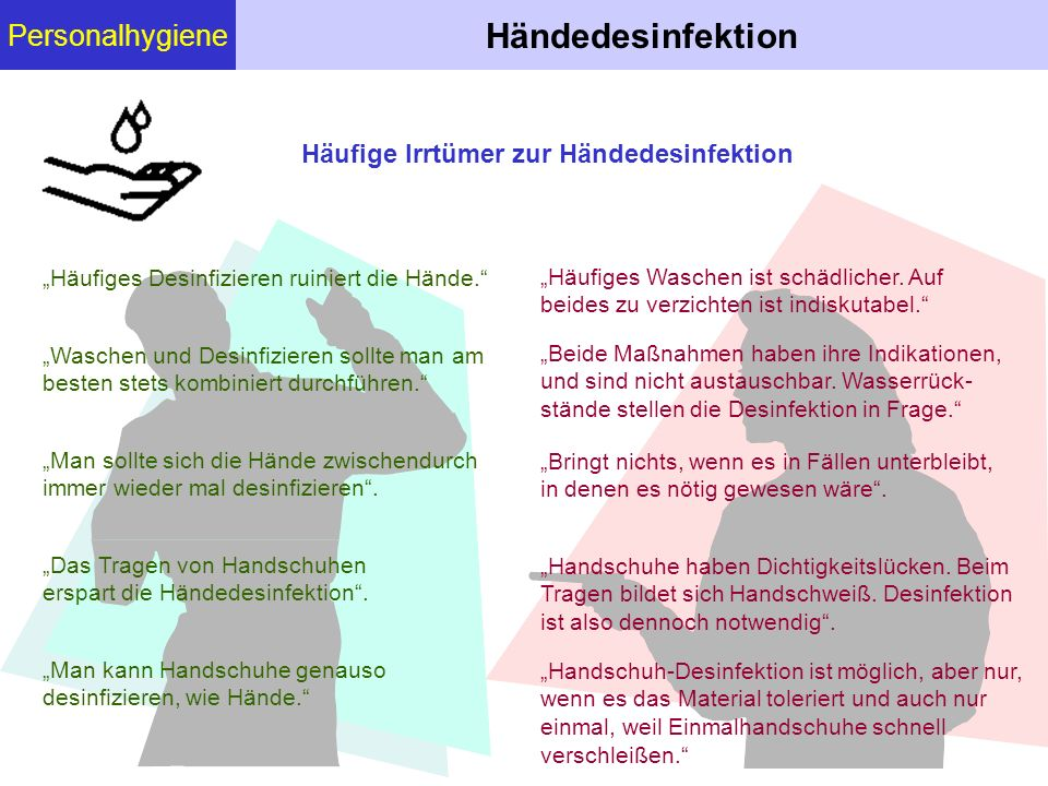Händedesinfektion Personalhygiene
