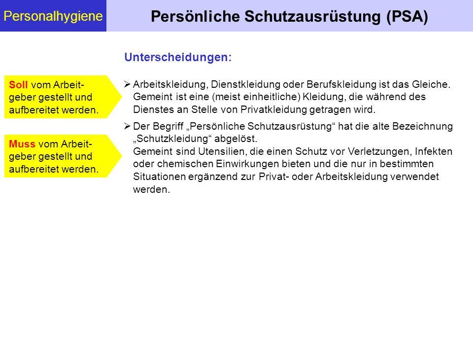 Persönliche Schutzausrüstung (PSA)