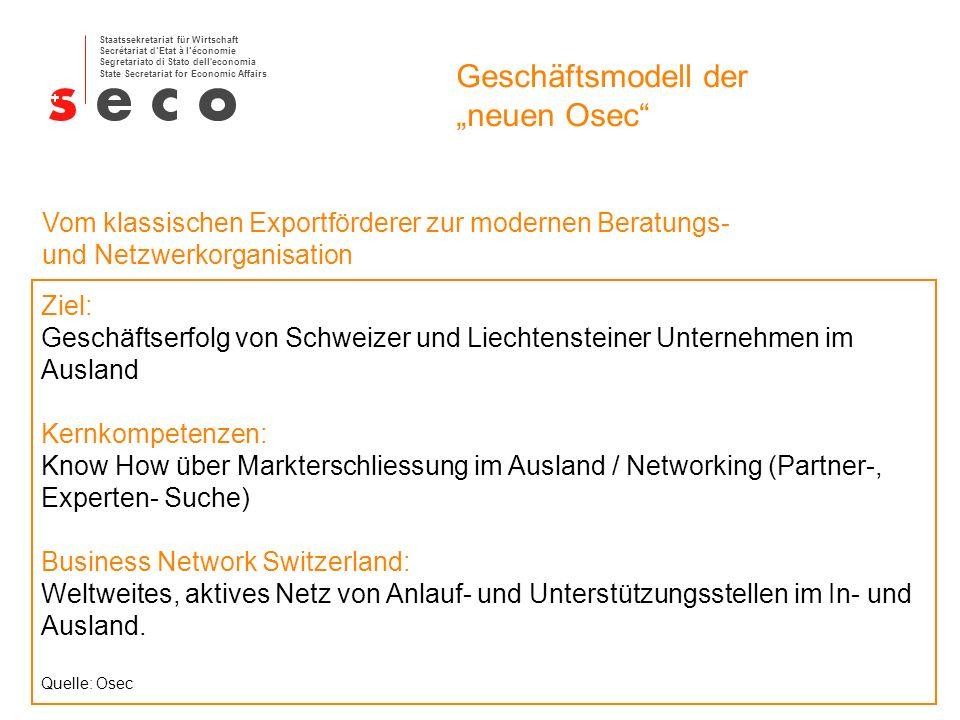 """Geschäftsmodell der """"neuen Osec"""