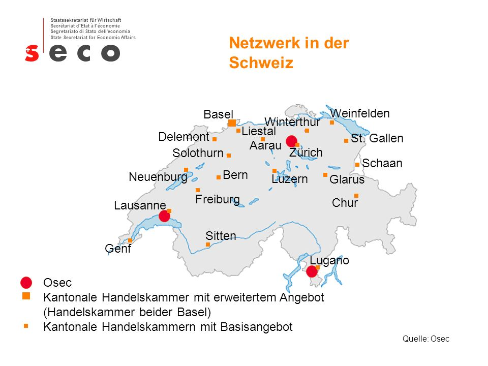 Netzwerk in der Schweiz